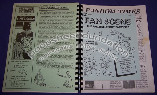 FANDOM TIMES and FANSCENE comix fanzine bound SET of 10 Kevin Collier 1984