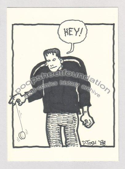 original art DAVID TOSH Frankenstein yo-yo 1988