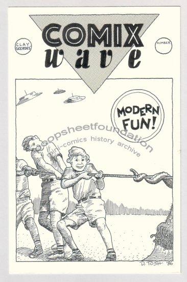 original art DAVID TOSH unused Comix Wave cover 1986