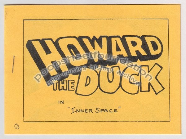 HOWARD THE DUCK unauthorized mini-comix CLAY GEERDES 1981