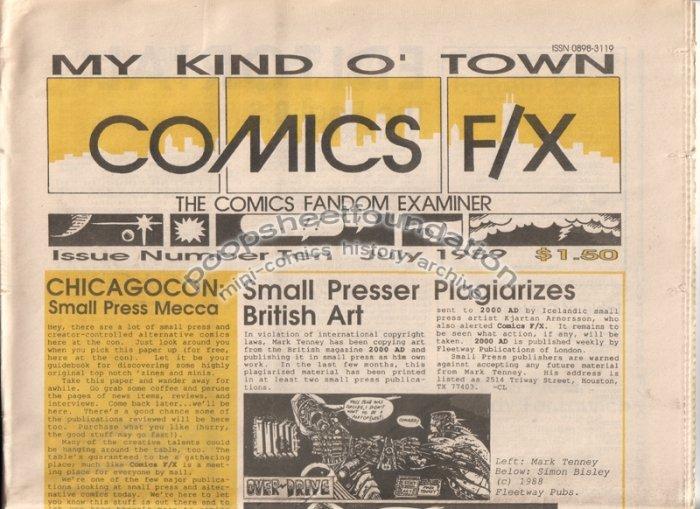 COMICS FX #10 mini-comix reviewzine SAM HENDERSON Bruce Sweeney WAYNO 1989