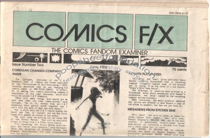 COMICS FX #2 mini-comix reviewzine MATT FEAZELL Matt Howarth WAYNO 1988
