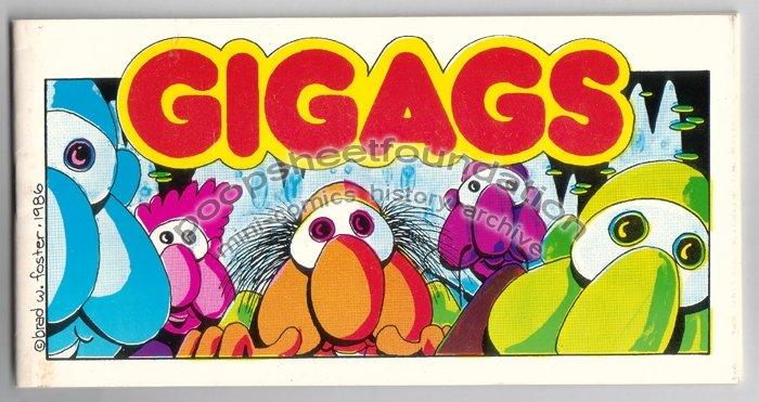 GIGAGS mini comix BRAD FOSTER Candy Comics 1987