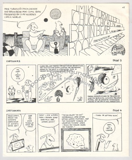CHUCK CHICKEN AND BRUIN BEAR underground Comix World mini comic 1981