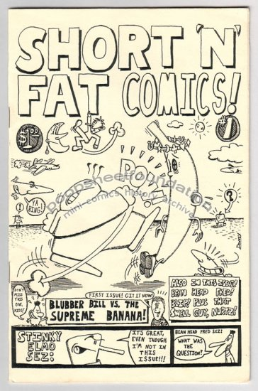 SHORT 'N' FAT COMICS mini comix DAVE DOWNEY signed numbered 1986