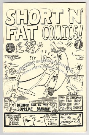 SHORT &#039;N&#039; FAT COMICS mini comix DAVE DOWNEY signed numbered 1986