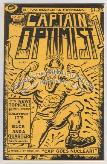 CAPTAIN OPTIMIST #1 mini-comic T.M. MAPLE Allen Freeman 1986