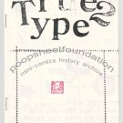 TRUE 2 TYPE mini comic EDD VICK movable type 1985