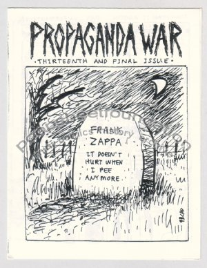 PROPAGANDA WAR #13 mini comix CLARK DISSMEYER CAD 1993