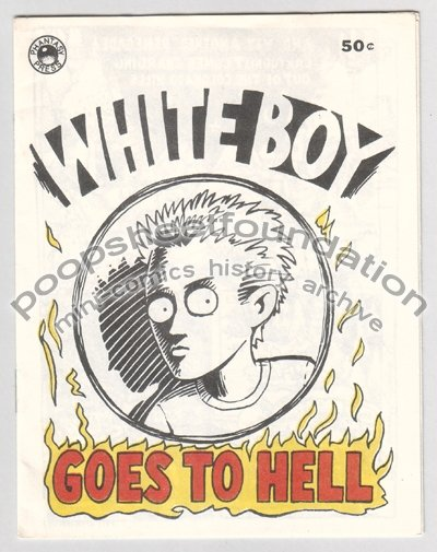 WHITE BOY GOES TO HELL underground comix mini HARRY LYRICO 1983