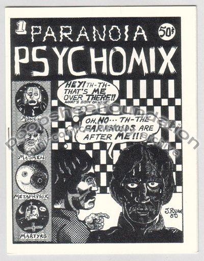 PARANOIA PSYCHOMIX #1 mini comix JIM RYAN Par Holman DOUG BRYSON 1980