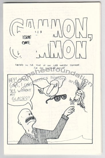 GAMMON GAMMON #1 mini comic JON LEWIS 1989