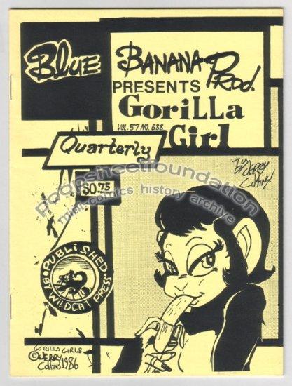 GORILLA GIRL QUARTERLY mini-comix JERRY COLLINS 1986