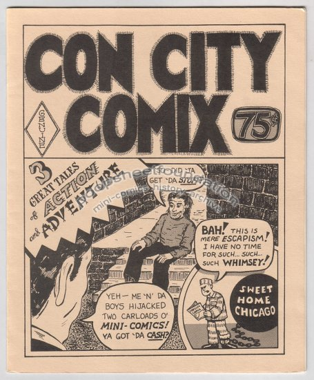CON CITY COMIX mini comic T.K. ATHERTON Carole Sobocinski 1987 Chicago