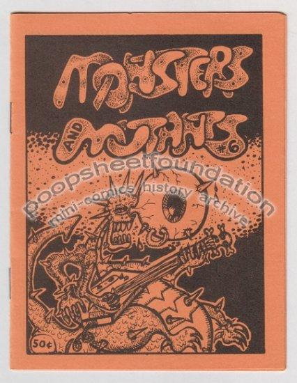 MONSTERS AND MUTANTS #6 mini comix JEFF GAITHER Bob X 1986