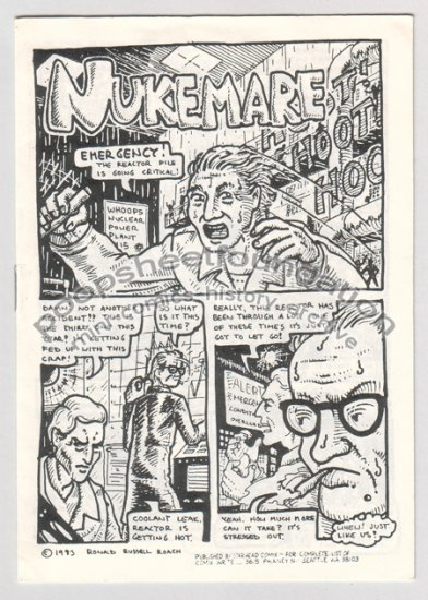 NUKEMARE mini comix RONALD RUSSELL ROACH 1983