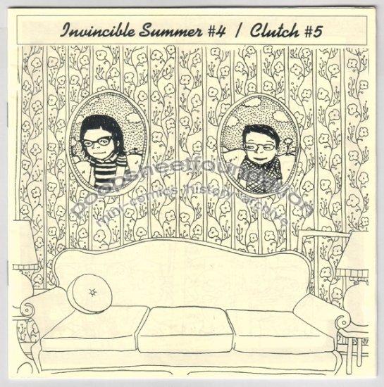 INVINCIBLE SUMMER #4 - CLUTCH #5 split mini comic zine NICOLE GEORGES Clutch McBastard 2002