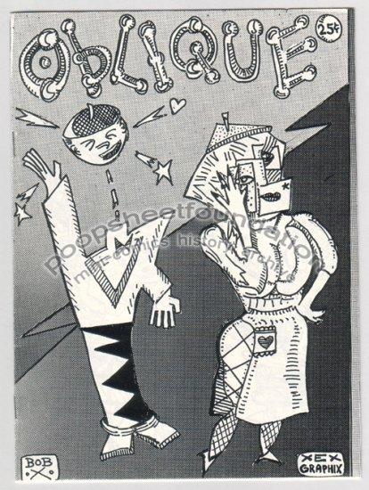 OBLIQUE art brut mini comix BOB X signed numbered 1984