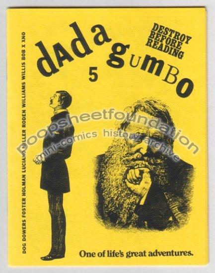 DADA GUMBO #5 mini comix XNO Michael Roden J.R. WILLIAMS Steve Willis 1984