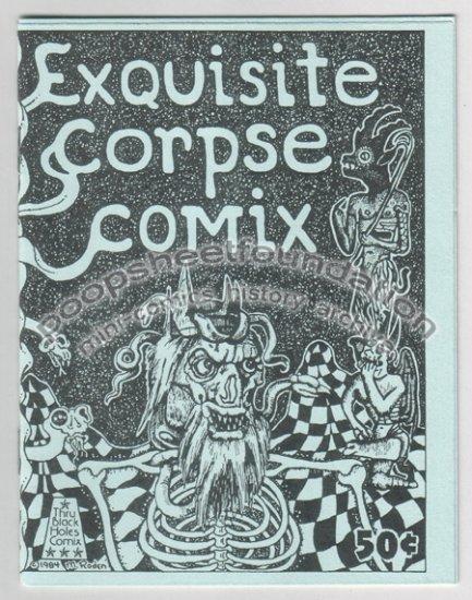 EXQUISITE CORPSE #2 art brut mini comix MICHAEL RODEN Bill Shut 1984