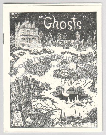 GHOSTS mini comix MICHAEL RODEN horror art brut 1984