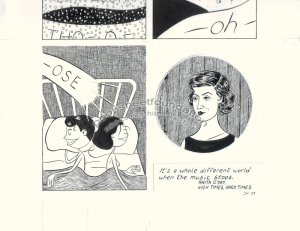 John Hankiewicz ORIGINAL ART comic MOME Those Eyes page 5 2007