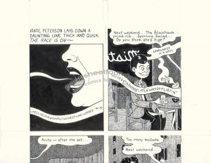 John Hankiewicz ORIGINAL ART comic MOME Those Eyes page 4 2007