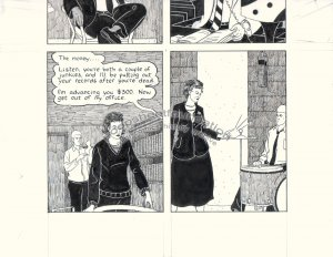 John Hankiewicz ORIGINAL ART comic MOME Those Eyes page 2 2007