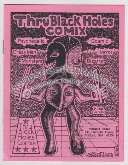 THRU BLACK HOLES COMIX CATALOG #2 Michael Roden 1984