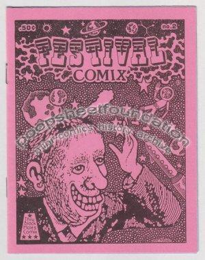 FESTIVAL COMIX #2 mini comic MICHAEL RODEN Brad Foster underground art brut 1985