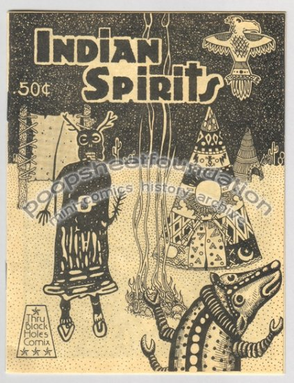 INDIAN SPIRITS underground comix MICHAEL RODEN mini-comic art brut psychedelic Native American 1984