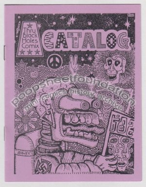THRU BLACK HOLES COMIX CATALOG #1 Michael Roden art brut 1984