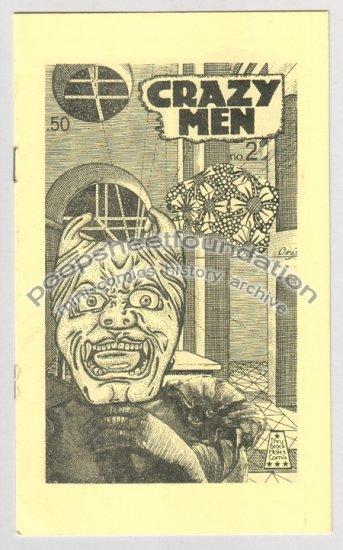 CRAZY MEN #2 art brut gothic mini comix MICHAEL RODEN 1984