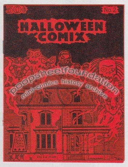 HALLOWEEN COMIX #2 art brut psychedelic MICHAEL RODEN underground comics 1982