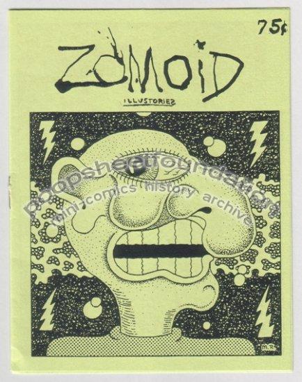 ZOMOID ILLUSTORIES Vol. 3 #7 art brut mini comix MICHAEL RODEN Bob X 1985