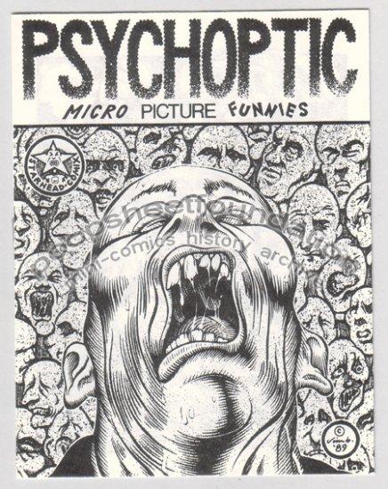 PSYCHOPTIC art brut mini comix JIM BLANCHARD 1st 1989