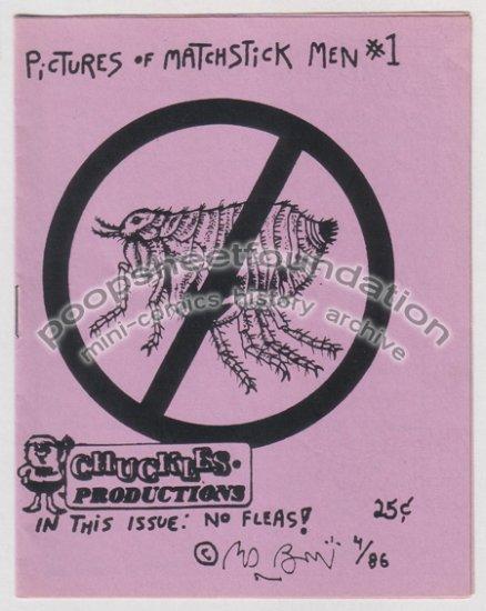 PICTURES OF MATCHSTICK MEN #1 mini-comic EDWARD BOLMAN 1986