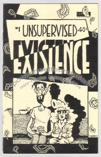 UNSUPERVISED EXISTENCE #1 mini UG comix TERRY LABAN 1987