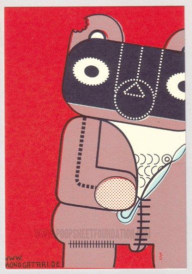MONOGATARI German JENS HARDER silkscreened pin-up postcard LOT of 3