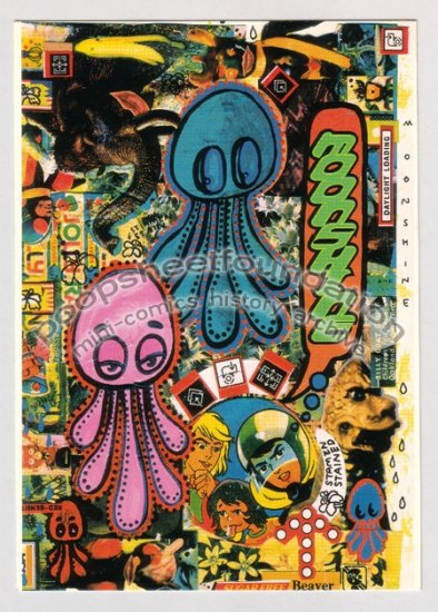 BWANA SPOONS postcard sticker MOONSHINE comix late '90s