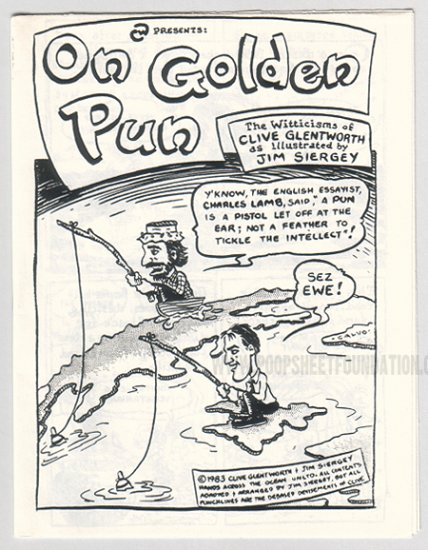 ON GOLDEN PUN underground comix JIM SIERGEY 1983
