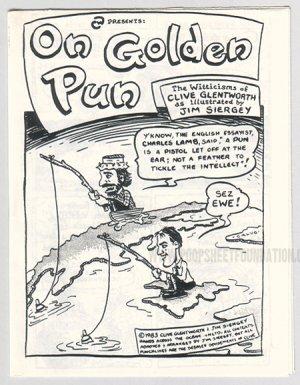 ON GOLDEN PUN underground comix JIM SIERGEY 1983