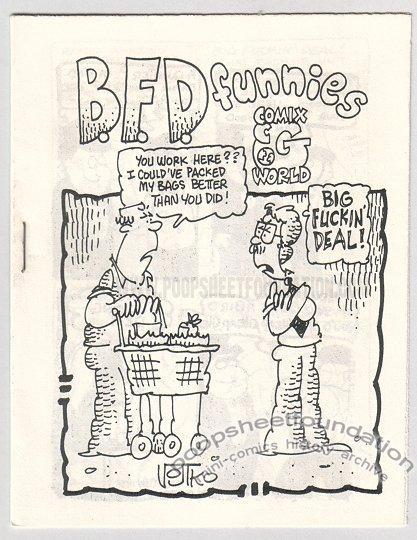 BFD FUNNIES underground comix BOB VOJTKO Par Holman GARRY HARDMAN 1981