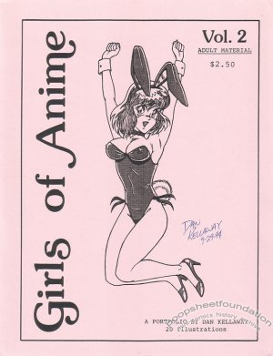 GIRLS OF ANIME #2 comic art portfolio DAN KELLAWAY signed 1994