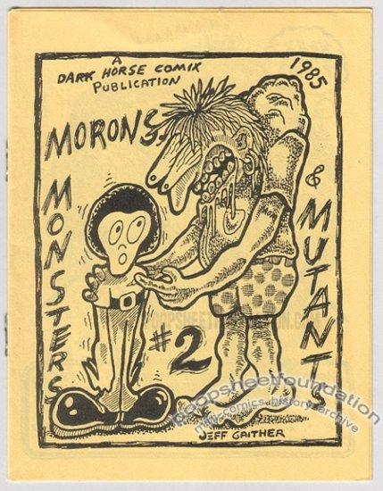 MONSTERS AND MUTANTS #2 mini-comix JEFF GAITHER art brut 1985