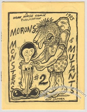 MONSTERS AND MUTANTS #2 mini-comix JEFF GAITHER art brut 1985
