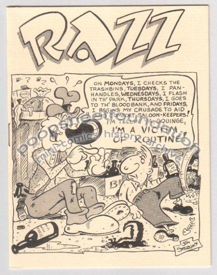 RAZZ mini-comix JIM SIERGEY hobo comics 1985