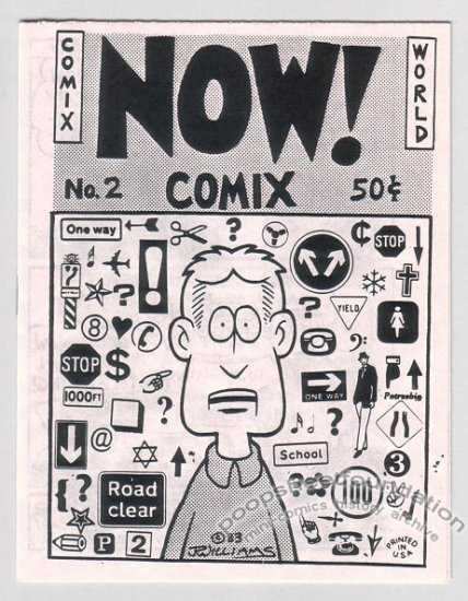 NOW COMIX #2 underground mini-comic J.R. WILLIAMS 1983