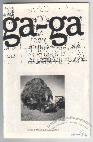 GA-GA underground comix GEORGE PARSONS numbered ed. 1989