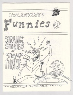 UNLEAVENED FUNNIES #1 mini-comic early CHRIS CILLA 1989